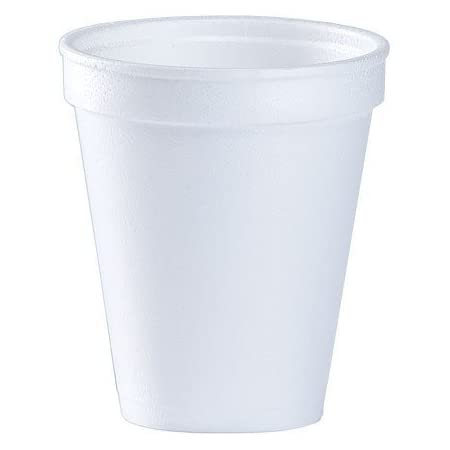 Amazon.com: 8 Oz White Disposable Coffee Foam Cups Hot and Cold Drink Cup (Pack of 150) : Health & Household