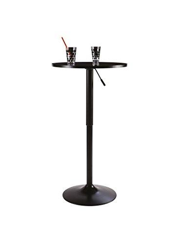 Stehtisch Tisch Bartisch Empfang Mod. Butler schwarz - schwarz höhenverstellbar