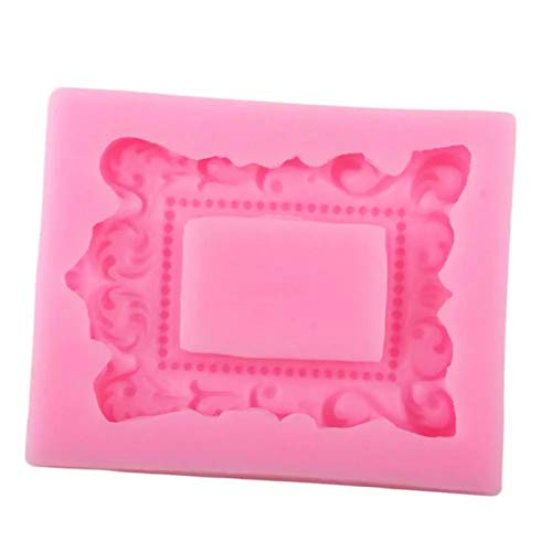 3D Barock Scroll Frame Silikonformen DIY Relief Kuchen BorderCake Dekorationswerkzeuge Candy Clay Chocolate Gumpaste Formen