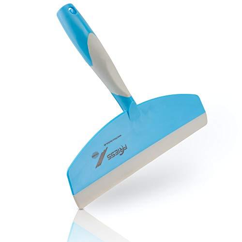 Friess Duschabzieher Premium, Badwischer für den Profi-Einsatz, Duschwischer mit ergonomischem Griff und Flexibler Lippe für Glatte und nasse Oberflächen, mit praktischer Öse zum Aufhängen