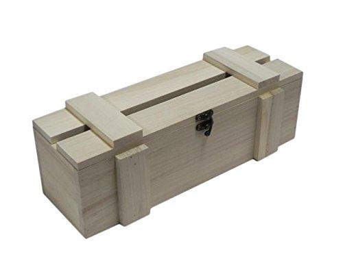 Holzkiste für Weinflaschen, Kiste, Aufbewahrung, unlackiert, für Serviettentechnik, langes Geschenk