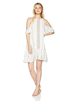 O NEILL Women s Keyhole Cutout Cold Shoulder Short Dress Naked/Landon X-Small