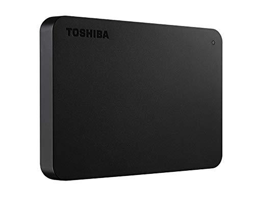 Toshiba HDTB405EK3AA Canvio Basics Tragbare Externe Festplatte USB 3.0, 500GB schwarz (Generalüberholt)