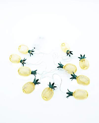 HEITMANN DECO - LED Lichterkette - Ananas - gelb/grün - ca. 150 cm, 10 TLG.