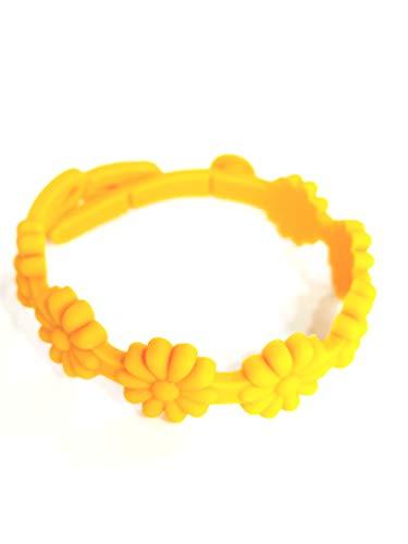 Bracelet Stroili or femme caoutchouc couleur orange clair