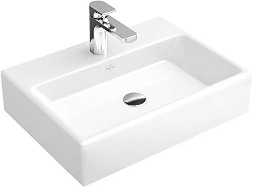 Villeroy & Boch Waschbecken MEMENTO 51335L 50x42cm mit Hahnloch durchgest mit Überlauf weiß alpin c+