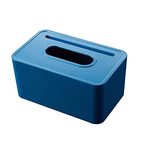 Caja de tejidos Caja de pañuelos Use en el titular del teléfono móvil de la oficina en el hogar, habitación de la habitación de servilleta de servilleta Caja de la s blue