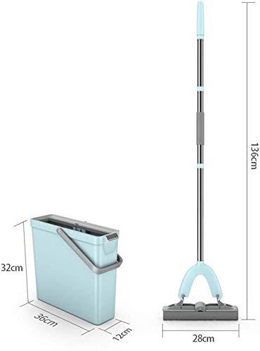 YONGQUAN Erecto de Goma Absorbente Plegable Doble de Agua de Lavado a Mano Libre de la fregona del hogar con el Lavado del Cubo de la fregona Plana (Size : Pack of 2)