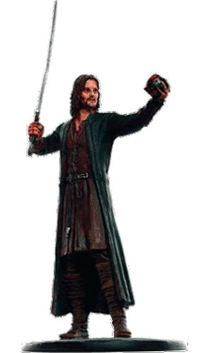 LOTR Figura de Plomo El Senor de los Anillos (solo la Figura) Nº 160 Aragorn