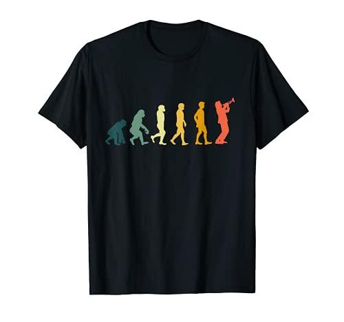 Trompeter Geschenk Retro Evolution Trompete T-Shirt