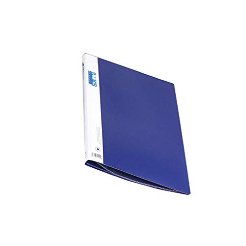 Inyear FolderSys - Carpeta para documentos (tamaño A4, con cierre de botón a presión y bolsillo, incluye 30 páginas (A)