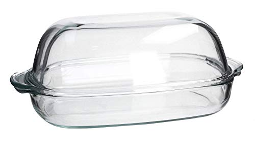 Simax Excellent Hitzebeständiges feuerfestes Gefäß Auflaufform Bräter mit Deckel aus Glas Varianten (8,6 L)