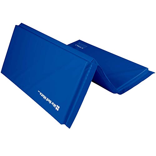 We Sell Mats Gymnastics Mat Folding Tumbling Mat for Exercise Yoga Martial Arts Portable with Hook amp Loop Fasteners Blue 6Feet x 15Inch