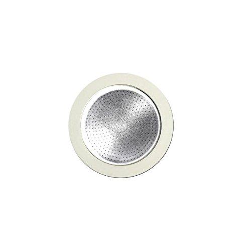 Bialetti Set Recharges 3 Jointea avec 1 Filtre pour cafétière 4 Tasses, Aluminium, Blanc