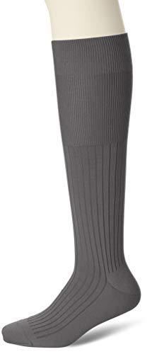 [フクスケ] 無地リブ ドレス ハイソックス 1足組 メンズ グレイベージュ 日本 25cm(25~26cm) (FREE サイズ)