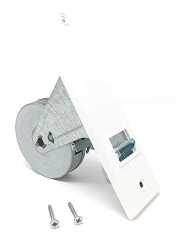 Gurtwickler inkl. Abdeckplatte in weiß, Lochabstand 165 mm, für 20-24 mm Gurtbreite (8 m Gurtaufnahme), 10330