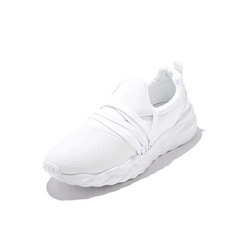 HaoLin Zapatillas Deportivas para Caminar, Zapatillas Deportivas para Gimnasio, Zapatillas Transpirables Informales para Mujer,White-41