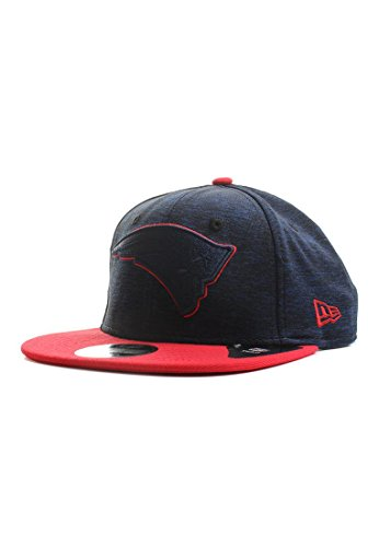 New Era NFL Sports Jersey 9Fifty Snapback Cap New England Patriots Dunkelblau Rot, Size:S/M
