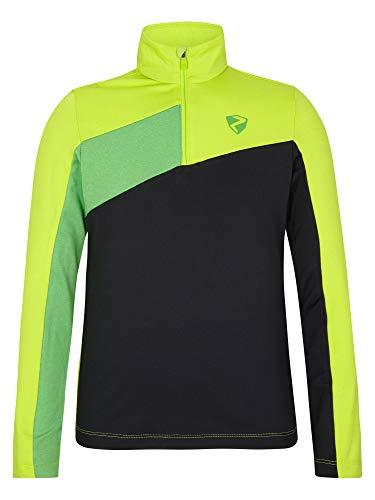 Ziener Jungen Josias Junior Skipullover, Skirolli, Funktions-Shirt | Langarm, Atmungsaktiv, Lime, 152