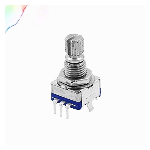 WHBGKJ Interruptor Giratorio 5pcs codificador rotatorio, Interruptor de código/potenciómetro Digital EC11 / Audio, con Interruptor, 5pin, Longitud de manija 15mm