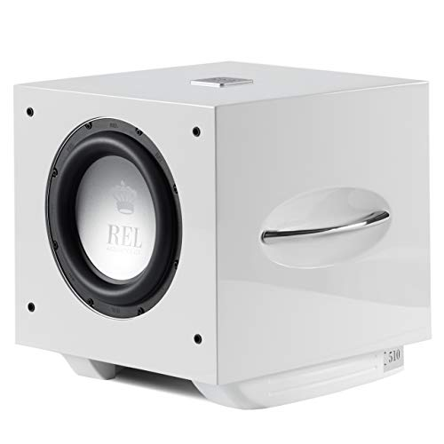Great Deal! REL Acoustics S/510 Subwoofer, Airship Wireless Compatible, White Lacquer