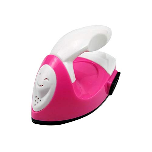ZOBOLA Cute Mini Electric Iron Mini Heat Press Machine Portable Travel Crafting Craft Clothes Sewing Supplies For T-Shirts Clothes Shoes Hats Small Heat Transfer Vinyl Projects (Color : Pink)