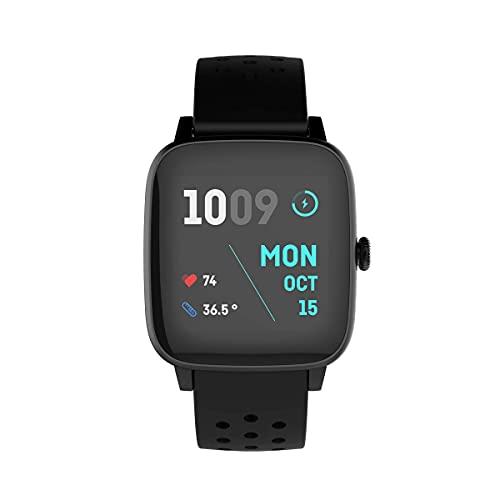 PRIXTON Life Fit - Pulsera de Actividad Reloj Inteligente para Mujer y Hombre con Termometro Pulsometro Registro de Actividad para Fitness