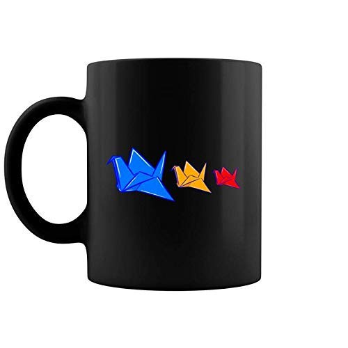 NA Grulla de Papel Origami Plegable Arte Cultura Japonesa Paz Esperanza Taza de café