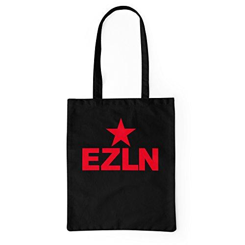 LaMAGLIERIA Stoffbeutel Ezln - tote bag shopping bag 100% baumwolle, Schwarz