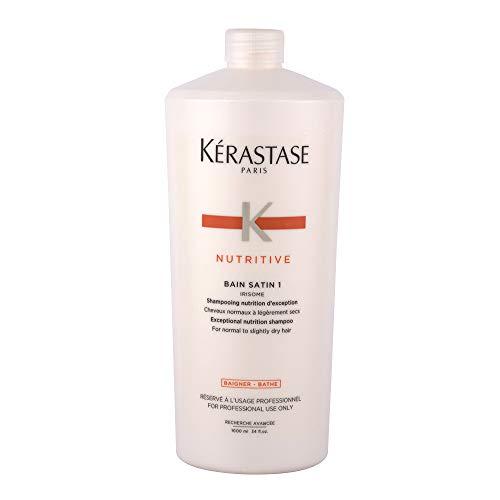 Kerastase Nutritive Bain satin 1, 1000ml - shampooing pour cheveux normaux ou secs