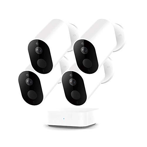 Cámara de seguridad inalámbrica inalámbrica, 5100 mAh 1080P al aire libre IP66 impermeable cámara IP tipo bala EC2 para sistema de vigilancia, 32 pies infrarrojos HD Super visión nocturna (4 artículo)