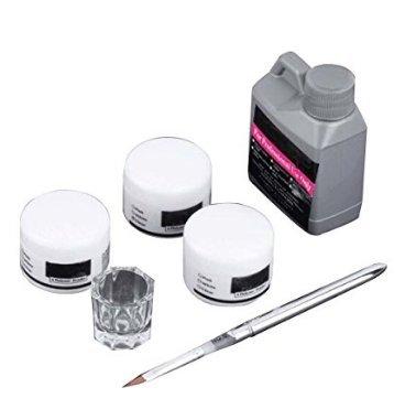 Rodman 3 Couleurs Kit de Poudre Acrylique Acrylique Liquide Ensemble Professionnel Acrylique Nail Set Nail Art Salon Outil de Manucure Acrylique Nail Liquide