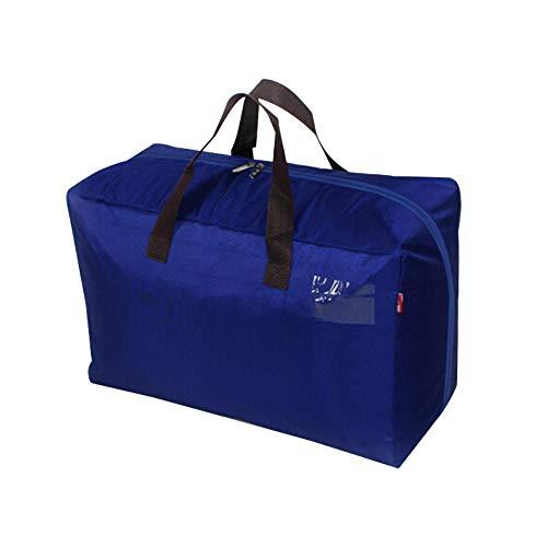 JXX Aufbewahrungstasche Kleidung Aufbewahrungstasche wasserdichte tragbare Organizer Teiler Paket Falttasche-S-44x15x28cm_Blau