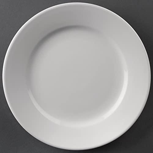 12 platos de porcelana blanca...