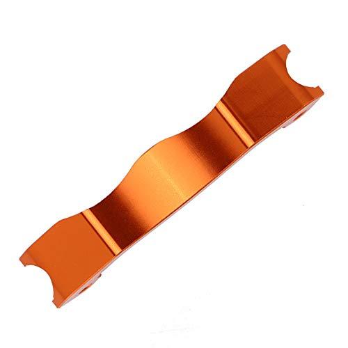 Tbest RC vordere Stoßdämpfer-Klammer, haltbare Aluminiumlegierungs-Modellauto-Verbesserungs-Teile für RC 1/5 HPI Rennwagen Baja RC Fahrzeug(Orange)
