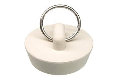 Danco 1-1/4-Inch Rubber Drain Stopper, White, Carded, 80225