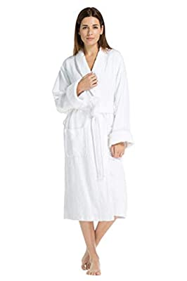 Fishers Finery Women's EcoFabric Resort Terry Robe; Full Length; Rolled Cuffs
