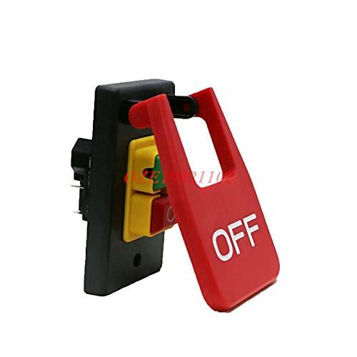 banapo 1 Pieza Sierras de Mesa Interruptor de botón electromagnético Interruptor de Paleta 220 V-240 V 16A 5E4 50 / 60Hz