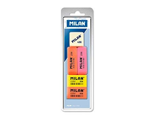 Milan BVM97010 - Pack de 5 gomas de borrar