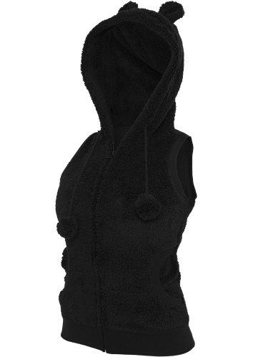 Urban Classics Ladies Teddy Vest TB393, color:black;size:L