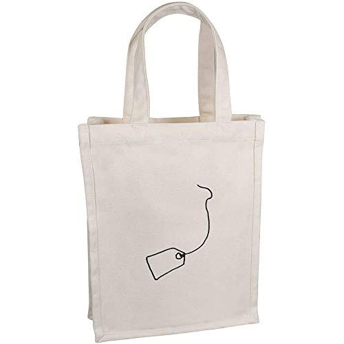 Azeeda 'Teebeutel' Kleine Premium Canvas Einkaufstasche (BG00041781)