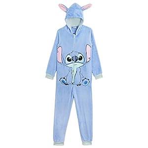 Disney Stitch Pijama Entero para Niñas De Una Pieza Super Suaves, Disfraces de Animales, Ropa de Dormir Niña Invierno…