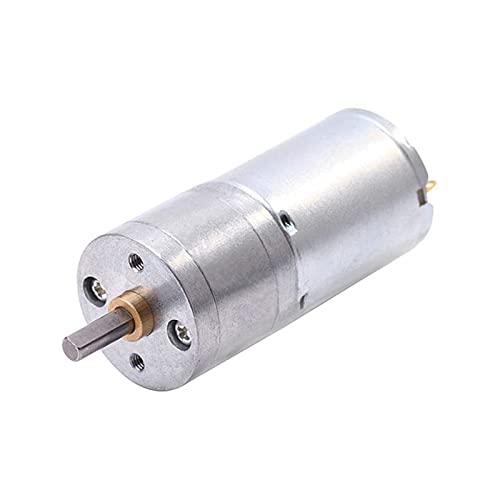 Motores de CC Motor engranado DC Motor 6V 12V Motor de Engranaje eléctrico Torque Alto 5/10/15/30/60/100/15/200/100/150/200/3000/400/500/1000/1200 RPM (Speed(RPM) : 60, Voltage(V) : 12V)