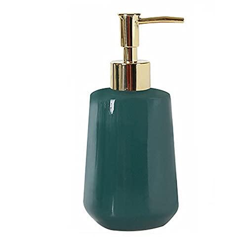 JJXZM Dosificador jabon, dispensador Gel Ducha dispensadores de jabon Botella de jabón líquido de cerámica (Verde 300ml)