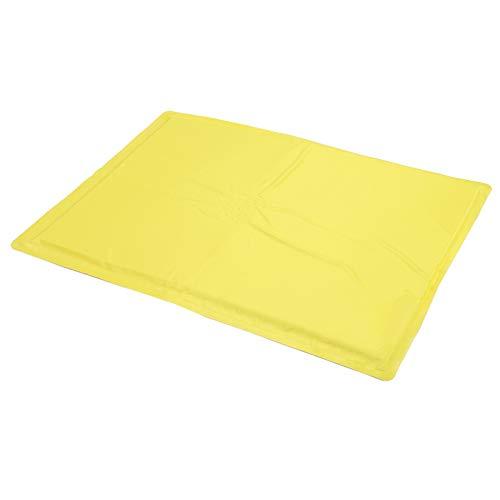 DAUERHAFT Cojín para Mascotas portátil, Plegable, Impermeable para Todo Tipo de Perros,(Yellow, M)