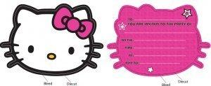 Hello Kitty Party Einladungskarten mit Umschlägen