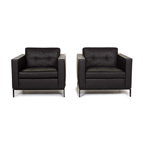 Walter Knoll Foster Leather Armchair Black