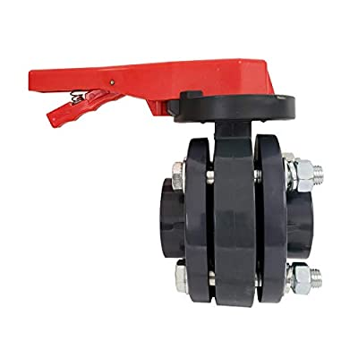 ERA SCH 80 PVC 3 Inch Butterfly Valve Kit, with Flanges and Hardware from ERA