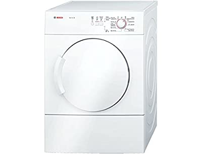Bosch Classixx WTA74100GB Free-Standing Tumble Dryer, Front Load, 6 kg Capacity, Energy Efficiency Class C, White (Free-Standing, Front Load, Drainage, White, Buttons, Control Dial, Right-Hand Hinge)