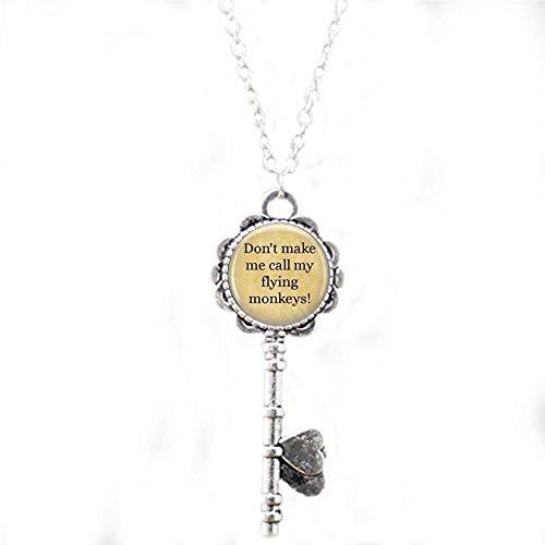 bab Zauberer von Oz Halskette - Wicked Witch Halskette - Wicked Anhänger - Buch Halskette - Literarischer Schmuck - Zitat Halskette - inspirierende Schlüsselkette